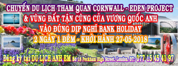 Du lịch Cornwall-Eden Project-Land End KH 27-05-18